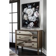 JEROM chest 3 drawer brown/silver