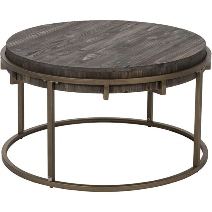 PAVS coffee table d81cm grey/gold