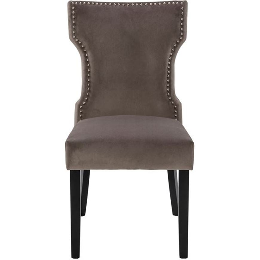 YALE dining chair grey/black