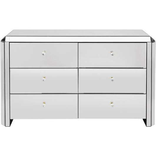 VERA chest 6 drawers clear
