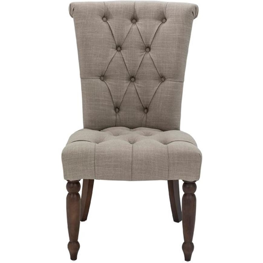 SERA dining chair taupe/light brown