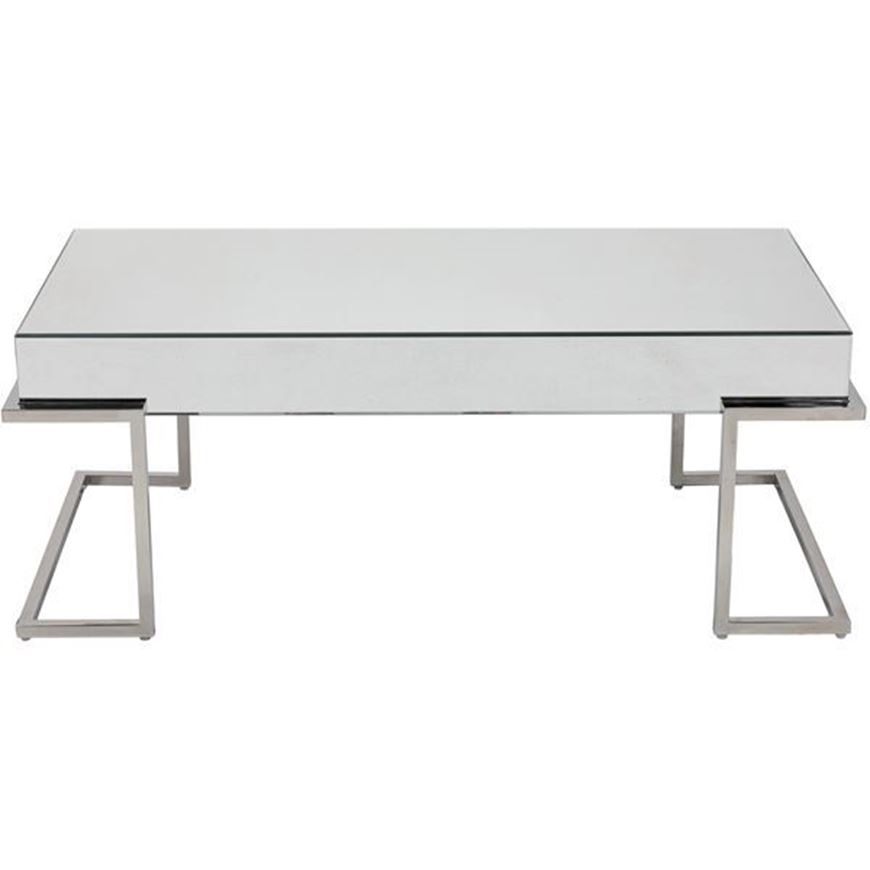 LUCA coffee table 120x60 clear/stainless steel
