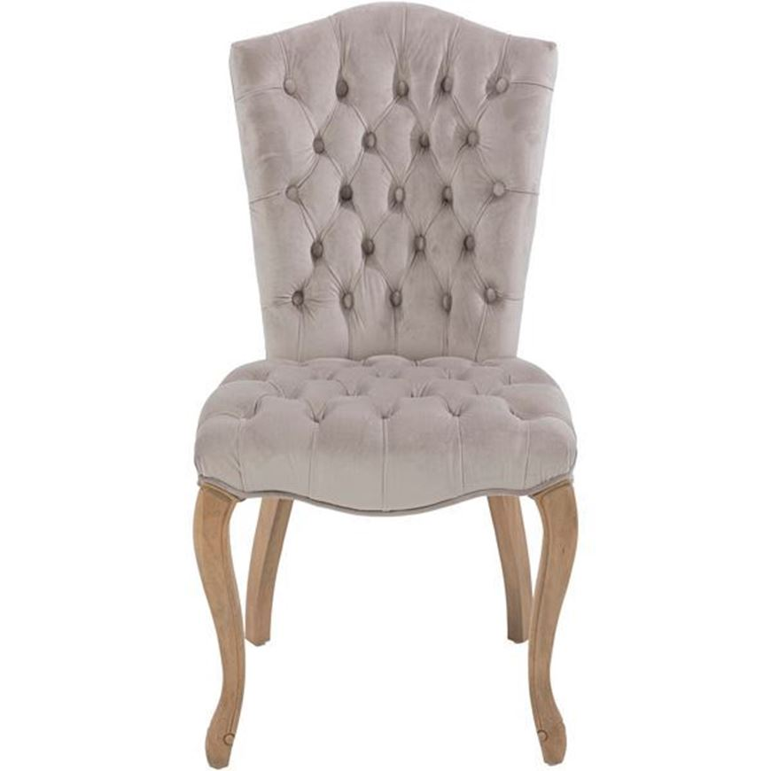 RAFEL dining chair microfibre grey/taupe