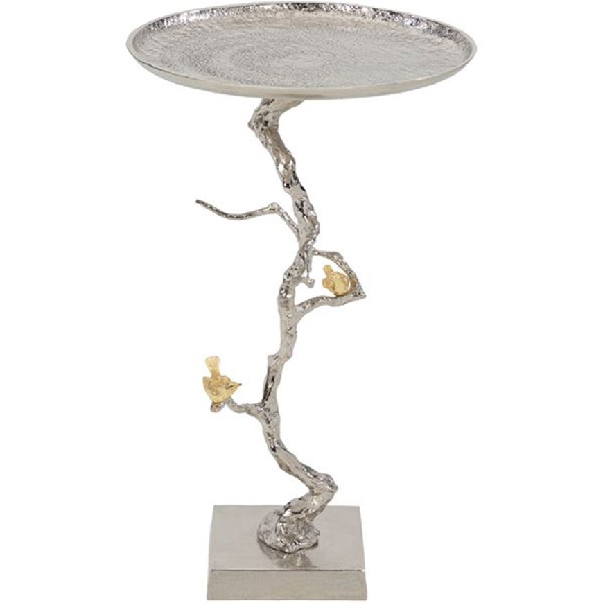 Picture of BRANCHY cocktail table d43cm silver