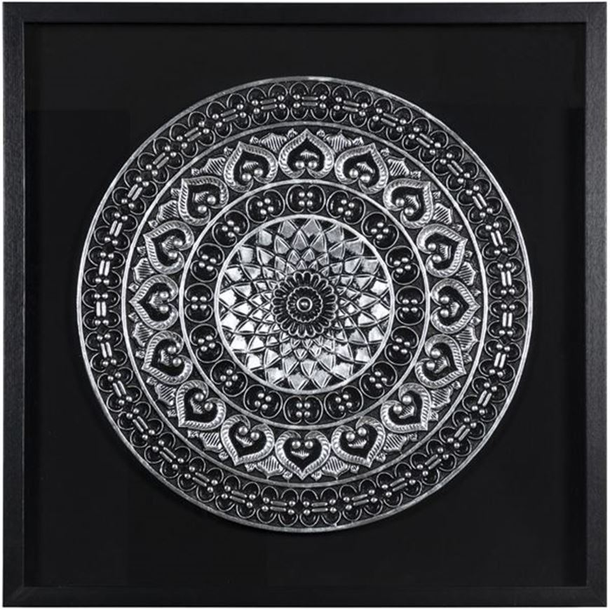 Picture of KYLER wall decoration 80x80 black