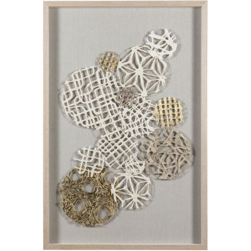 Picture of TEAGAN wall decoration 80x120 grey