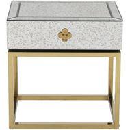 LOEN bedside table clear/gold