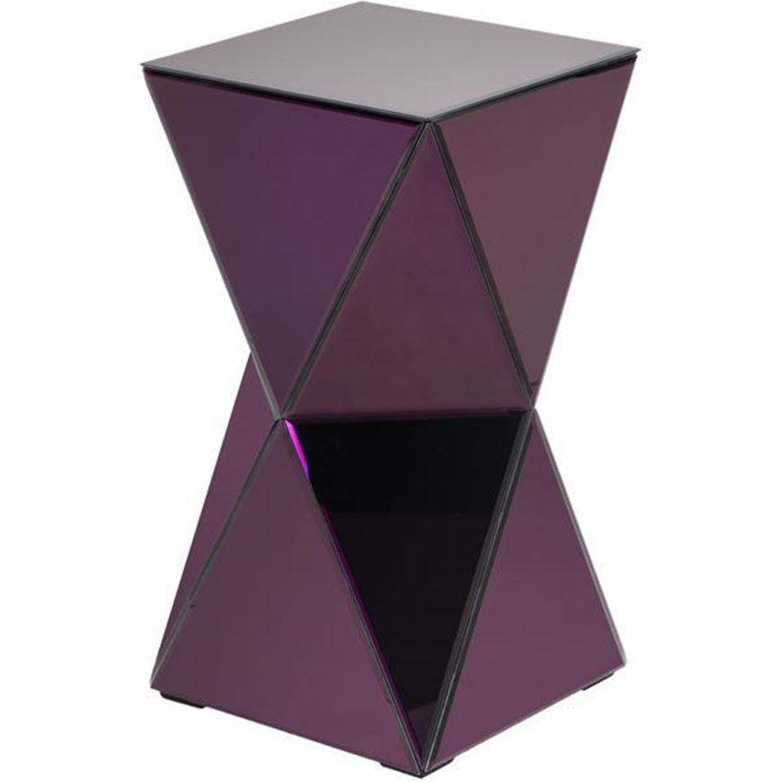 TOWER side table d33cm purple