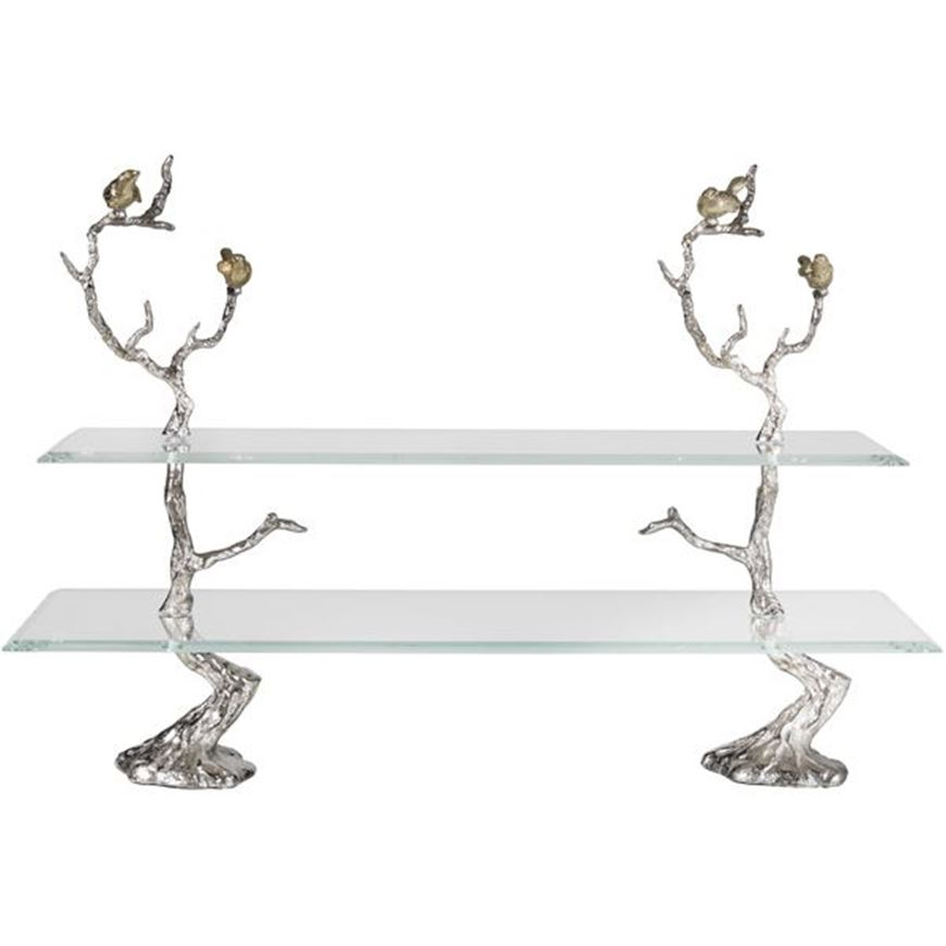 Picture of BRANCHY cake stand h60cm silver