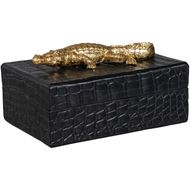 CROCO box 20x14 black/gold