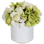FLORAL arrangement h25cm white/white