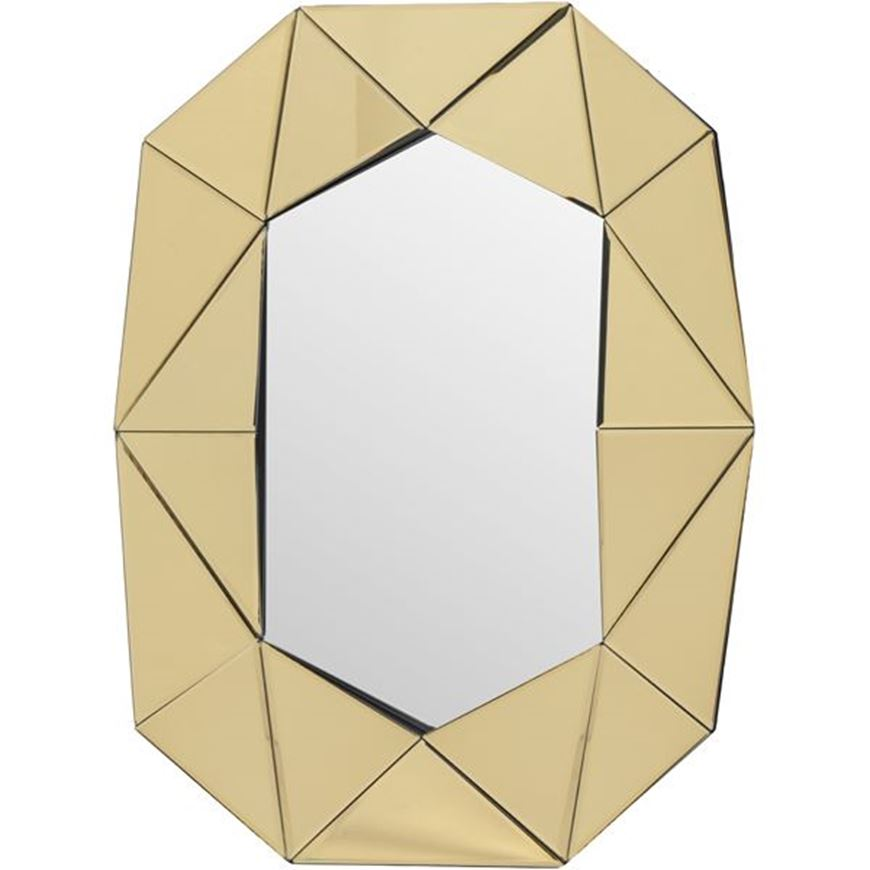 Picture of WALL mirror 81x64 gold