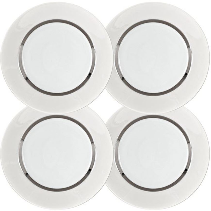 Picture of LUSTRE dessert plate d21cm set of 4 cream