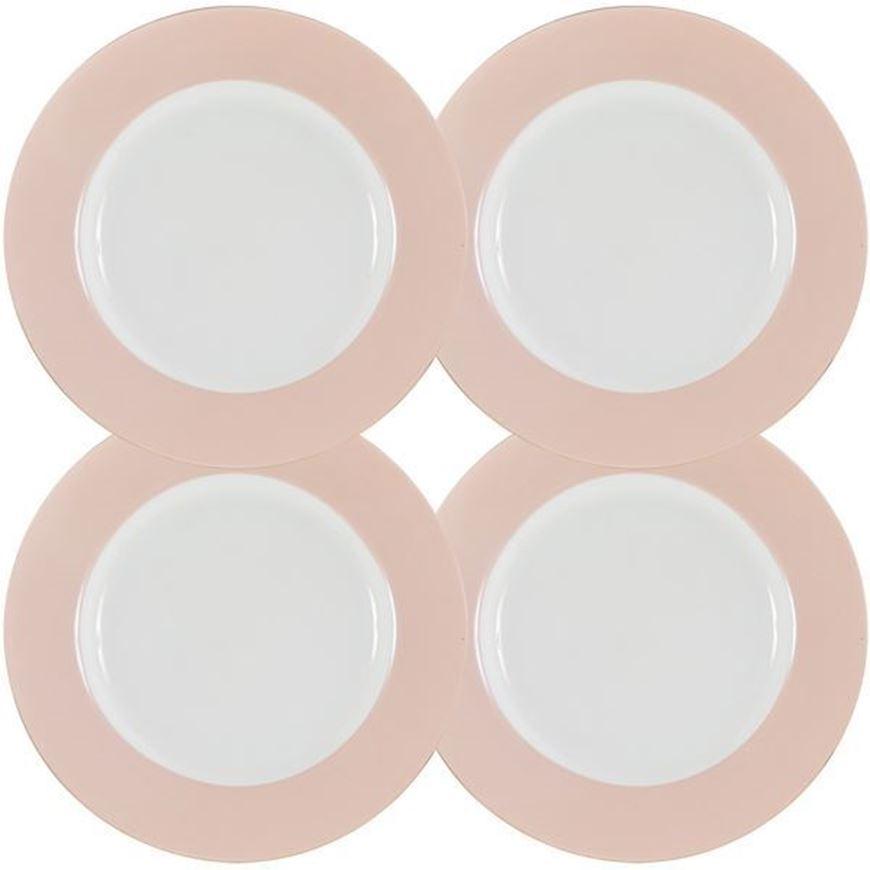 MIST dinner plate d27cm set of 4 white/pink