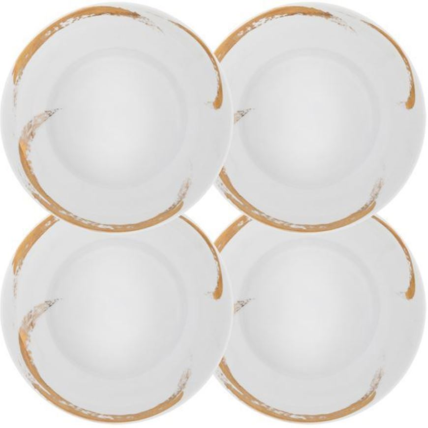 ODESSA soup plate d21cm set of 4 white/gold