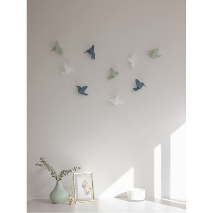 Picture of HUMMINGBIRD wall decoration set of 9 assorted