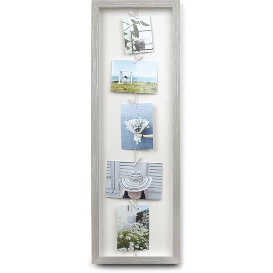 Picture of CLOTHESLINE FLIP photo holder grey