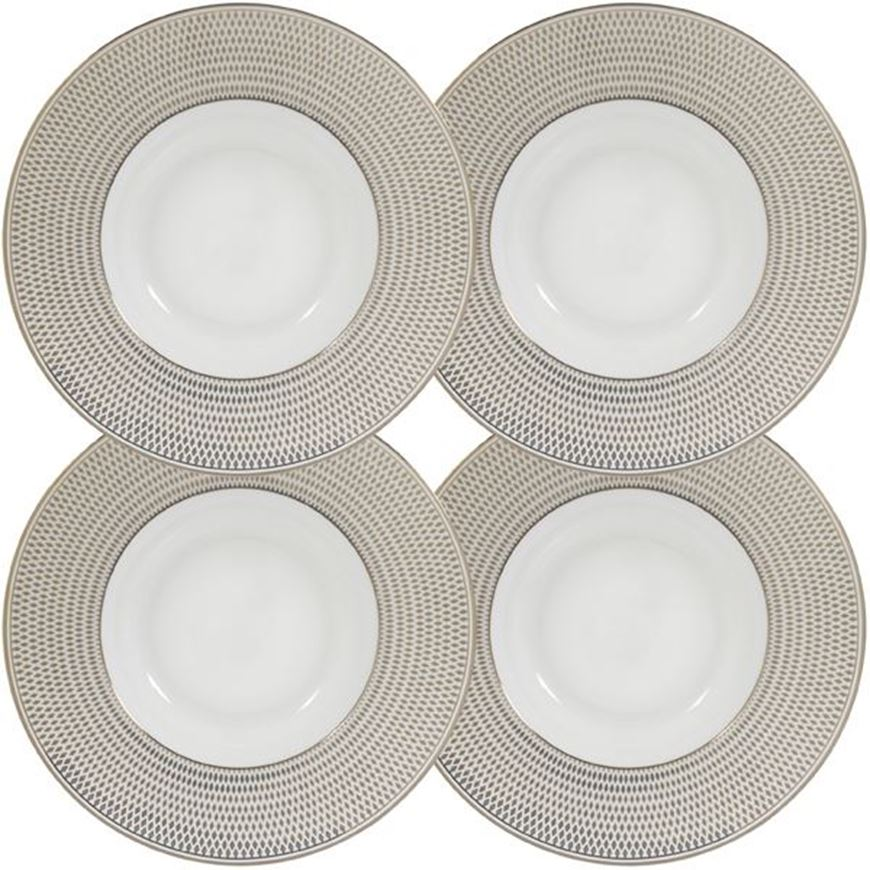 ORLIE soup plate d24cm set of 4 white/gold