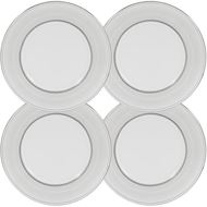 RUBEEN dessert plate d22cm set of 4 white/silver