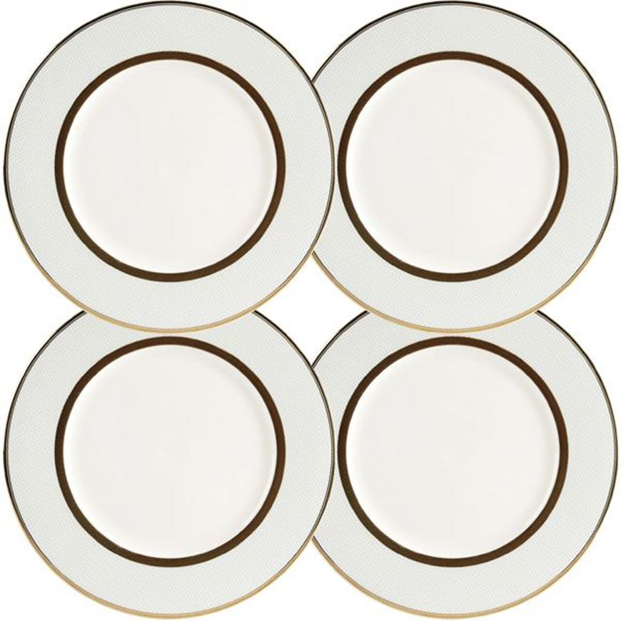 ASHBURY dessert plate d21cm set of 4 blue/gold