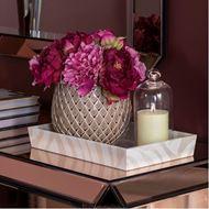 PEONY arrangement h27cm pink/beige