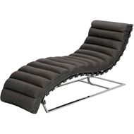 COSTELLO chaise leather grey