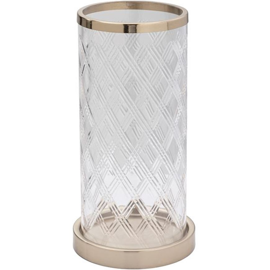 Picture of LEILA hurricane h30cm gold/clear