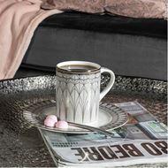 OBERON mug grey/gold