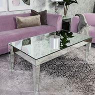 TORA coffee table 124x65 clear