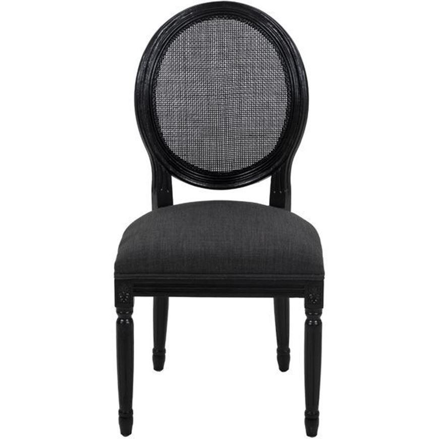 CHARDO dining chair dark grey/black
