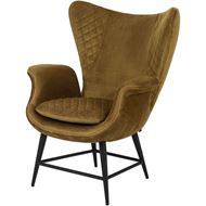 EON wing chair brown