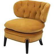 PUFF armchair microfibre yellow