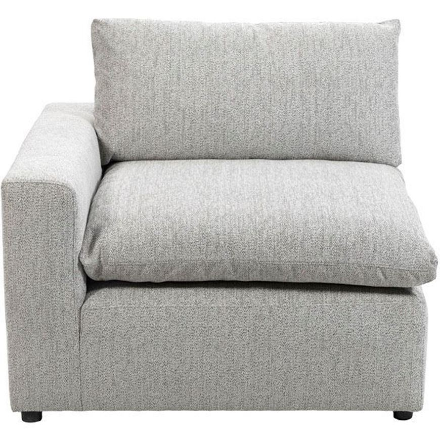 MOONLIGHT chair with Left arm grey