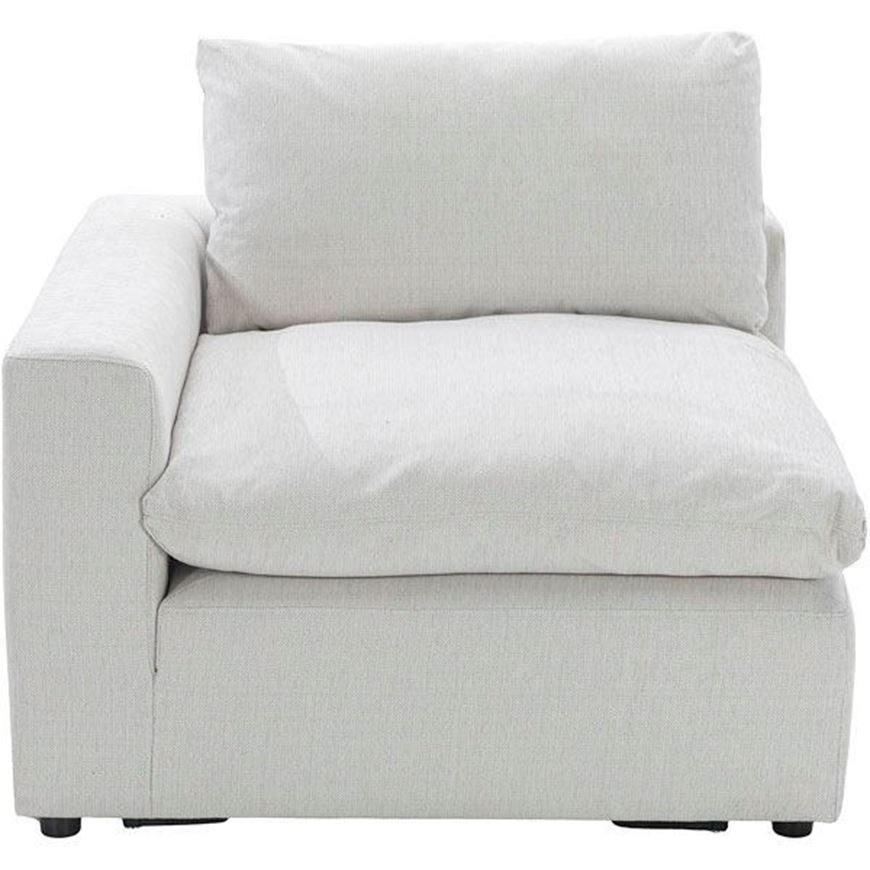 MOONLIGHT chair with Left arm white