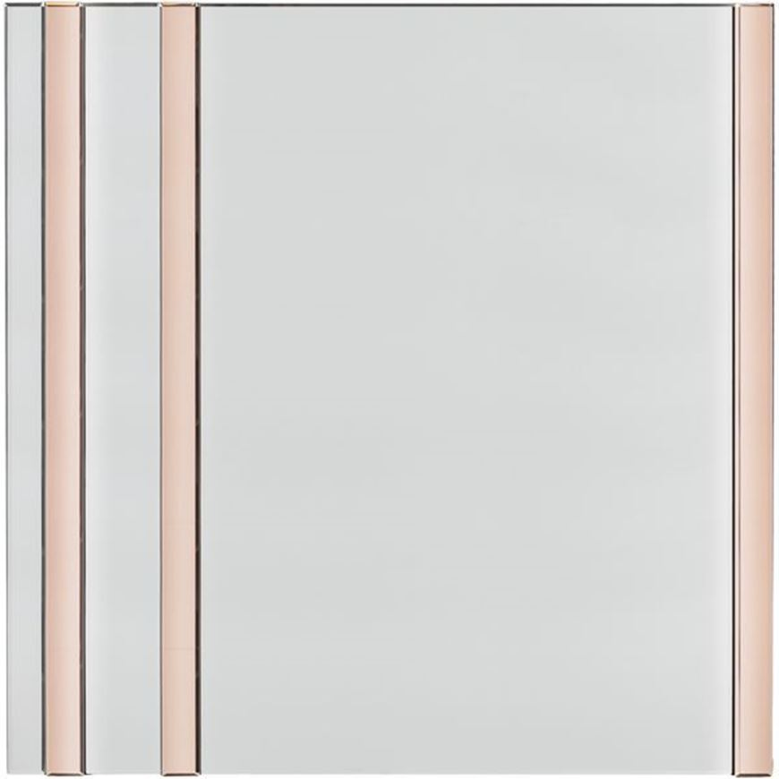GHOST mirror 100x100 clear/pink