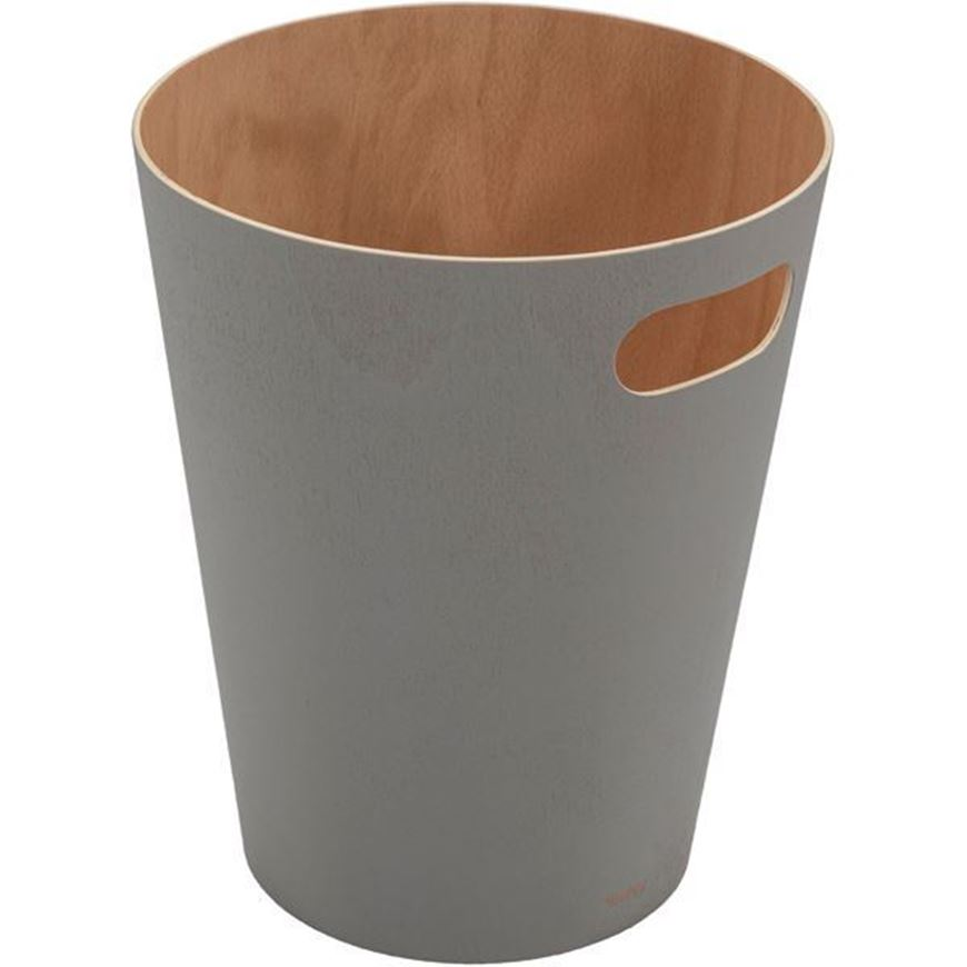 WOODROW waste can natural/grey