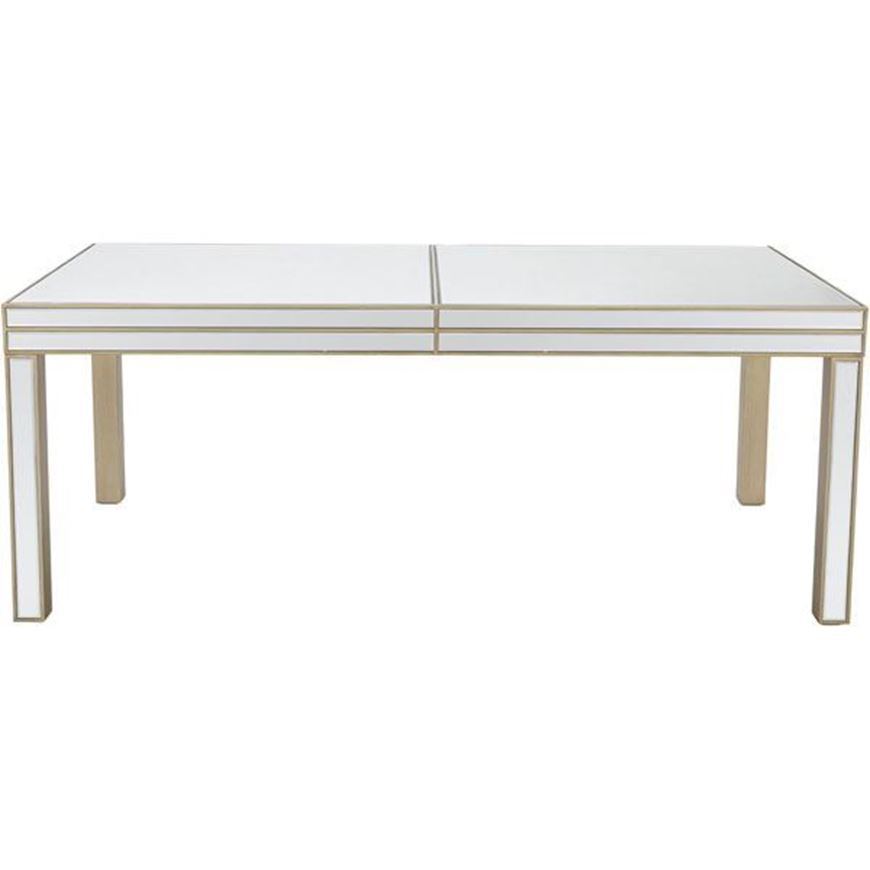 SALMI dining table 200x100 clear/gold