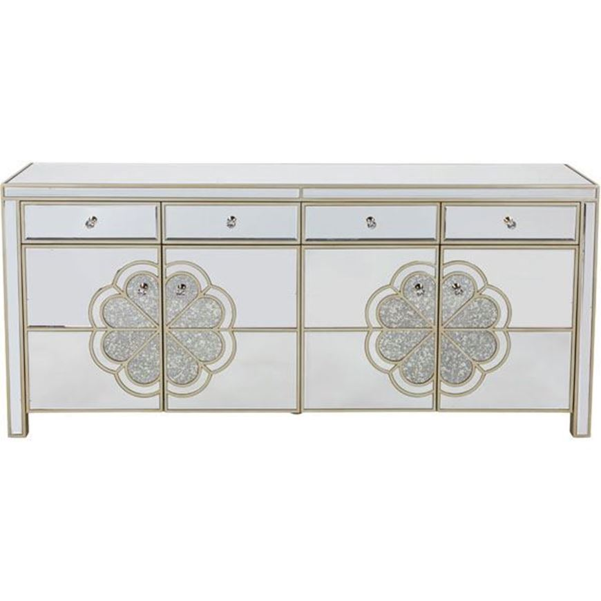 SALMI sideboard 80x180 clear/gold