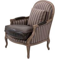 LIDA armchair leather dark brown