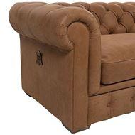 GAINSBOROUGH sofa 2 leather brown