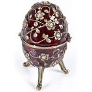 EGG trinket box red/gold