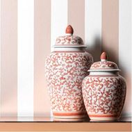 CAMILLA jar with lid h29cm orange