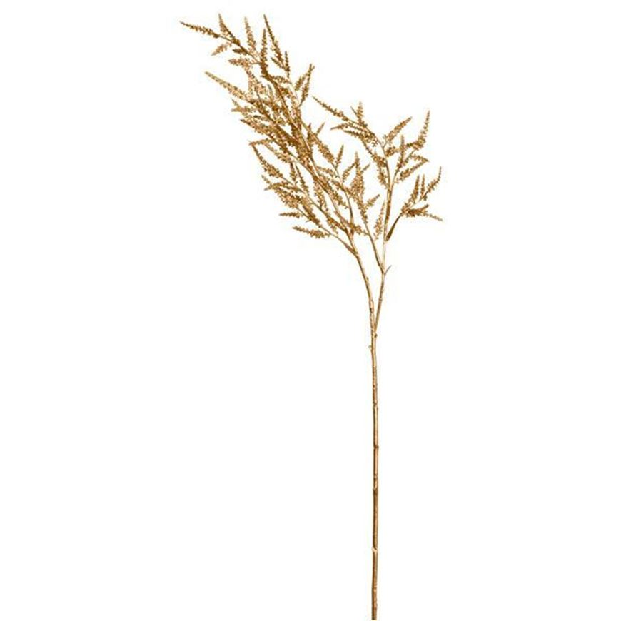 METALLIC astilbe stem h90cm gold