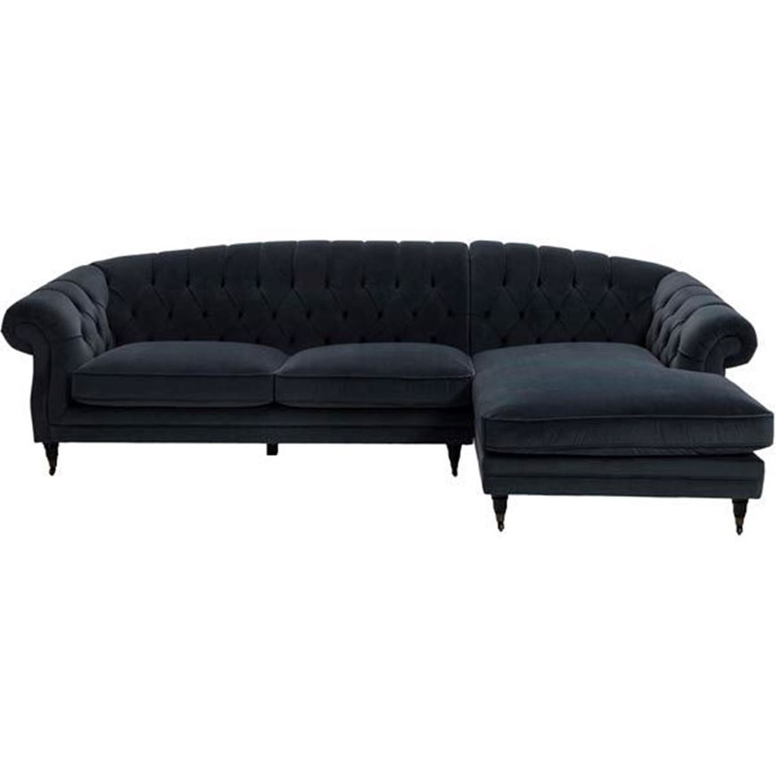 LOUIE sofa 2.5 chaise lounge Right microfibre