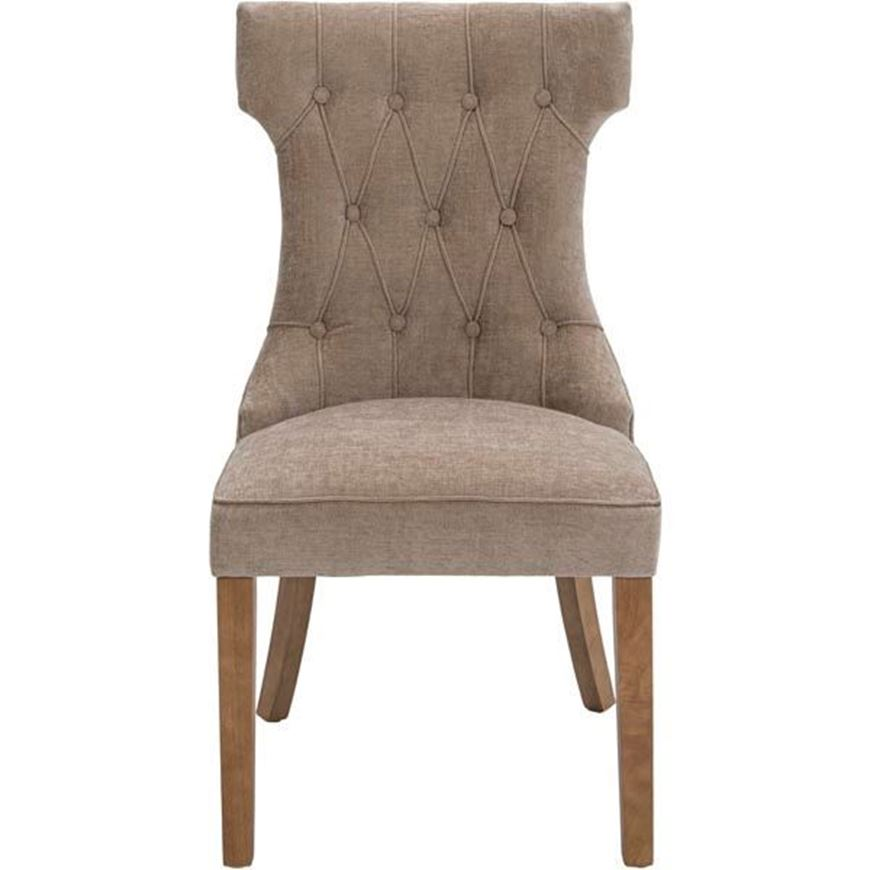 NASH dining chair beige/natural