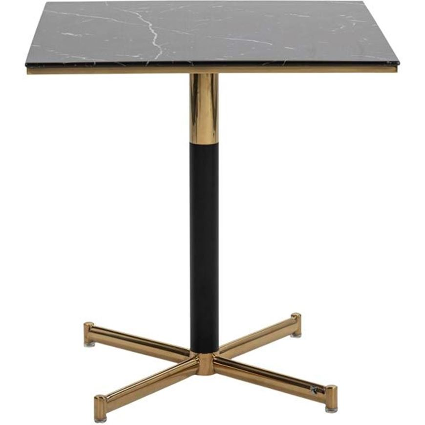 Picture of BISTRO dining table 70x70 black/gold
