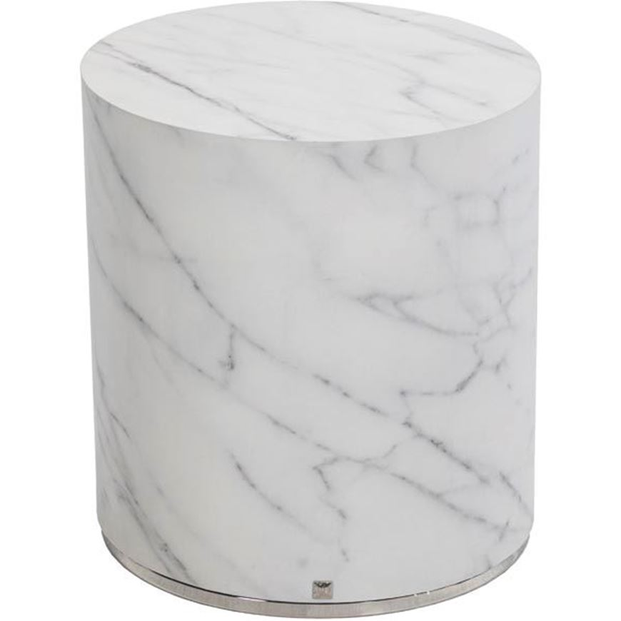 Picture of MARBO side table d40cm white