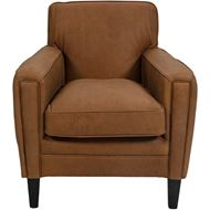 GREGORY armchair leather light brown