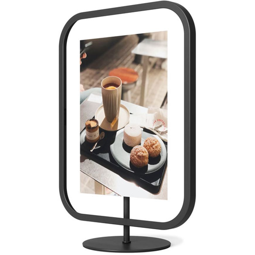 Picture of INFINITY sqround photo frame 13x18 black