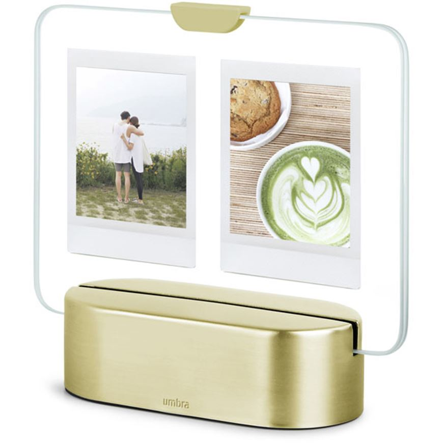 Picture of GLO instant photo frame 6x8/2 brass